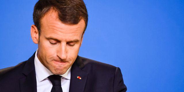 Emmanuel Macron. Geert Vanden Wijngaert / TT / NTB Scanpix