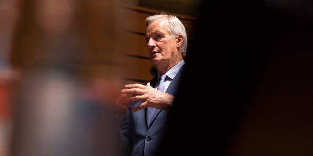 EU:s chefsförhandlare Michel Barnier.  Virginia Mayo / TT NYHETSBYRÅN