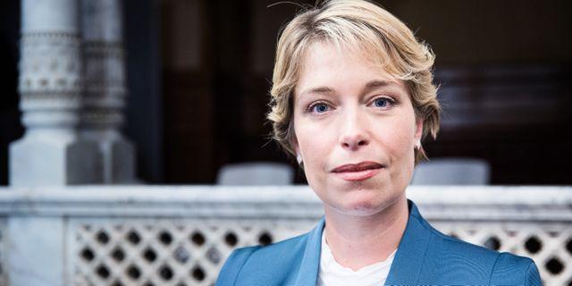 Socialminister Annika Strandhäll.  Emma-Sofia Olsson/SvD/TT / TT NYHETSBYRÅN