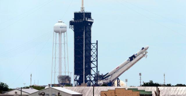 SpaceX Falcon 9. David J. Phillip / TT NYHETSBYRÅN