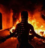 Bild från protesterna. - / AFP