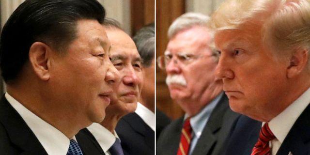 Donald Trump och Xi Jinping under mötet i Argentina i december.  Kevin Lamarque / TT NYHETSBYRÅN