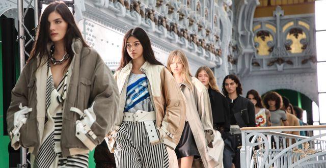 Modevisning av Louis Vuitton i oktober. Vianney Le Caer / TT NYHETSBYRÅN
