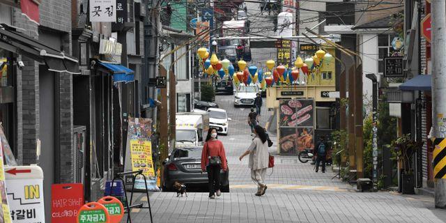 Nattklubbskvarter i Itaewon. JUNG YEON-JE / TT NYHETSBYRÅN