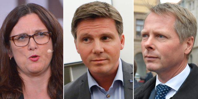 Cecilia Malmström/Erik Ullenhag/Chriser Nylander. TT