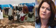 Al-hol-lägret i Syrien/Ann Linde. TT