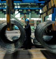 Kinesisk stålfabrik. Arkivbild. TT NYHETSBYRÅN