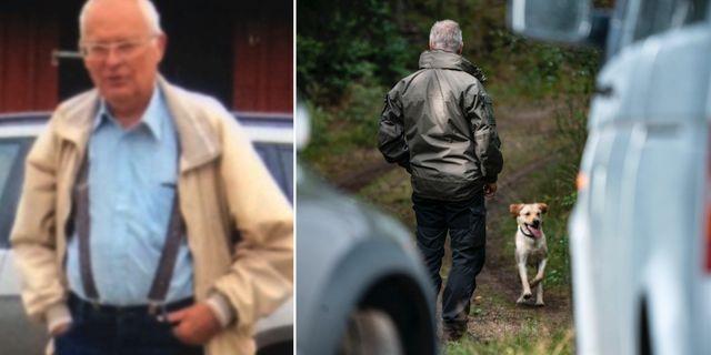 Gert-Inge Bertinsson/polisens sökarbete i Markaryd. Arkivbild. Privat/TT
