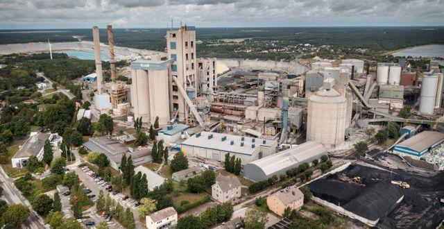 Cementas fabrik på Gotland.  Karl Melander/TT / TT NYHETSBYRÅN