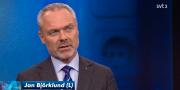 Jan Björklund i Aktuellt. SVT