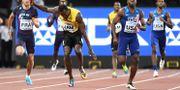 Usain Bolt bröt loppet. JEWEL SAMAD / AFP