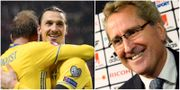 Zlatan Ibrahimovic, Erik Hamrén. TT