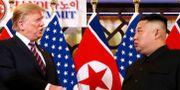 Trump och Kim under mötet Leah Millis / TT NYHETSBYRÅN