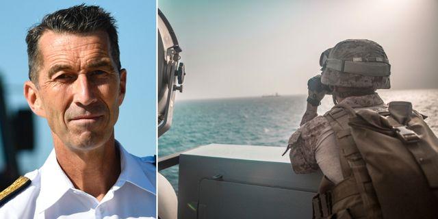 Micael Bydén/amerikansk soldat i Hormuz. TT