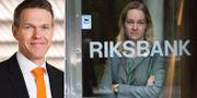 Nordeas chefsanalytiker Torbjörn Isaksson, till vänster. Cecilia Skingsley från Riksbanken till höger.  TT