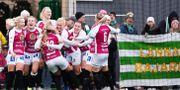 Beata Olsson jublar efter 3–1-målet. KENTA JÖNSSON / BILDBYRÅN