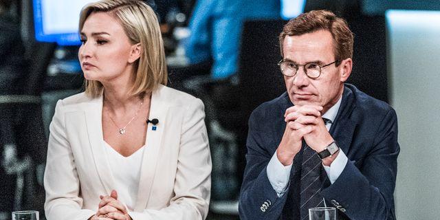 Ebba Busch Thor/Ulf Kristersson. Arkivbild. Tomas Oneborg/SvD/TT / TT NYHETSBYRÅN