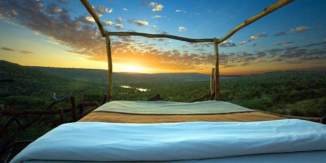 """Himmelssängarna på Loisaba Wilderness Lodge i naturreservatet Laikipia i Kenya och ger dig chansen se både kometer, planeter och """"the big five"""". Loisaba Wilderness Lodge"""