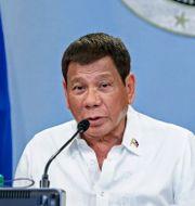Filippinernas president Rodrigo Duterte .  RICHARD MADELO / TT NYHETSBYRÅN