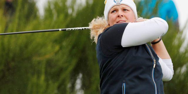 Caroline Hedwall under Solheim Cup. RUSSELL CHEYNE / TT NYHETSBYRÅN