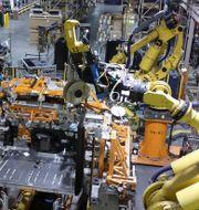 Pressbild. Kenworth Robotic Cab Build Cell, Chillicothe, Ohio.