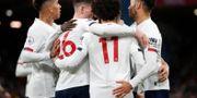 Liverpool-spelarna firar. Alastair Grant / TT NYHETSBYRÅN