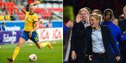 Fridolina Rolfö och Sarina Wiegman. TT