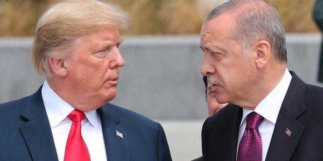 Trump och Erdogan vid ett Natomöte förra året. TT NYHETSBYRÅN/ NTB Scanpix