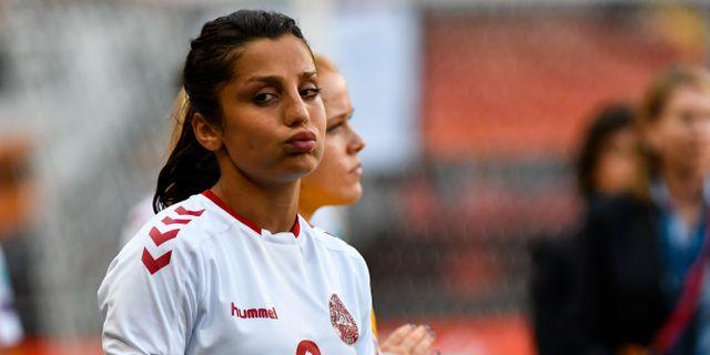 Danmarks Nadia Nadim. Patrick Post / TT NYHETSBYRÅN