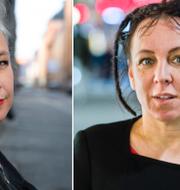 Sara Stridsberg och Olga Tokarczuk. Arkivbild. TT