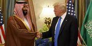 Trump och Mohammed bin Salman. TT