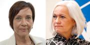 Kristina Nilsson (S) och Acko Ankarberg Johansson (KD) Riksdagen / TT.