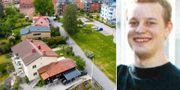 Åsgatan i Linköping där morden skedde. Daniel Nyqvist. TT/Linköpings kommun