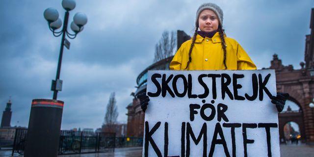 Klimatkämpen Greta Thunberg. Arkivbild. Hanna Franzén/TT / TT NYHETSBYRÅN