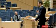 Skärmdump från debatten. SVT