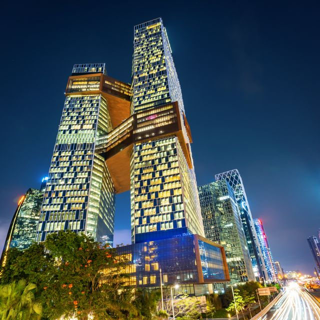 Shenzhen, China - February 8, 2019:Tencent's twin tower headquarters is located in Shenzhen Bay Business Square, Nanshan business district. Shutterstock