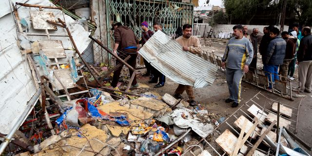 Tolv dodade av bomber i bagdad