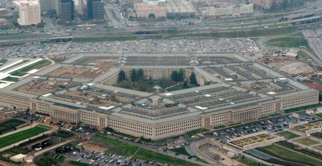 Arkivbild: Vy över Pentagonbyggnaden i Washington.  Charles Dharapak / TT NYHETSBYRÅN
