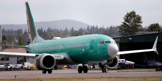 737 Max-plan som tillhör American Airlines. Elaine Thompson / TT NYHETSBYRÅN/ NTB Scanpix