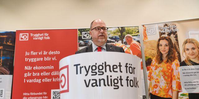 LO:s avgående ordförande Karl-Petter Thorwaldsson. Fredrik Sandberg/TT / TT NYHETSBYRÅN
