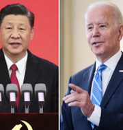 Donald Trump, Xi Jinping och Joe Biden. Seth Wenig/TT, Anonym/XINHUA, Andrew Harnik/TT