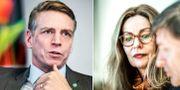 Per Bolund (MP) och Birgitte Bonnesen, vd i Swedbank.  TT