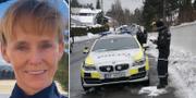 Laila Bertheussen/Polisen utanför bostaden. VG/TT