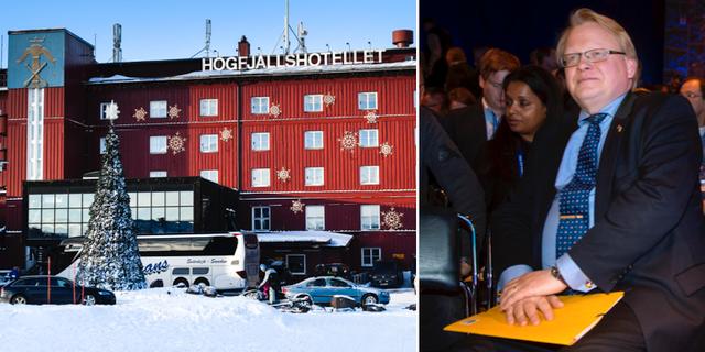 Högfjällshotellet i Sälen där Folk och Försvars årliga rikskonferens hålls. Försvarsminister Peter Hultqvist (S). TT