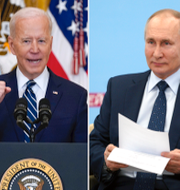 Xi Jinping, Joe Biden och Vladimir Putin.  TT