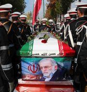 Mohsen Fakhrizadeh begravs. TT NYHETSBYRÅN