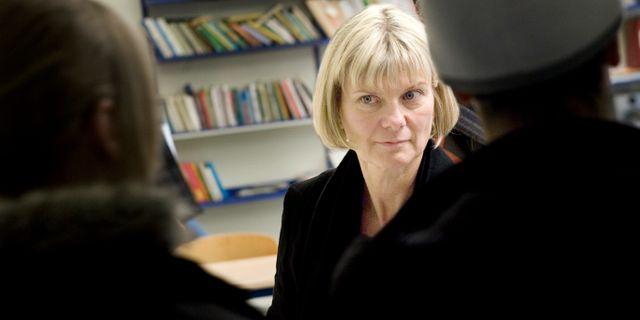 Skoldirektör Jytte Lindborg.    OLA TORKELSSON / TT / TT NYHETSBYRÅN