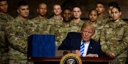Trump på militärbasen Fort Drum den 13 augusti. BRENDAN SMIALOWSKI / AFP
