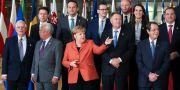 EU-ledarna på toppmötet i Bryssel. YVES HERMAN / TT NYHETSBYRÅN