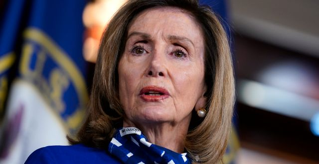 Representanthusets talman Nancy Pelosi.  J. Scott Applewhite / TT NYHETSBYRÅN